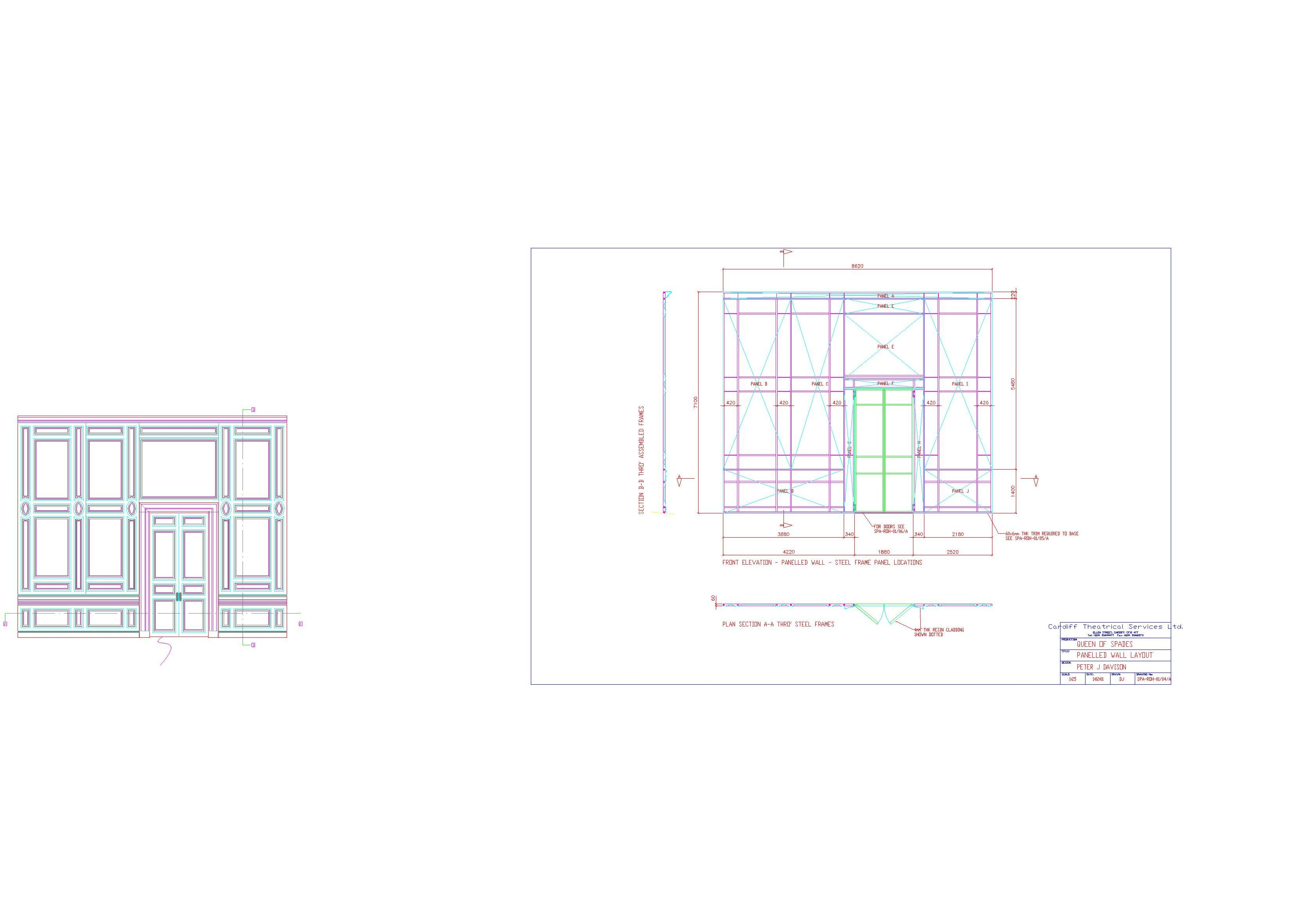 PANELLED WALL LAYOUT (A)CTS-Model